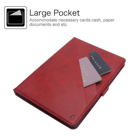 Leather Card Holder Case With Apple Pencil Holder For iPad Pro 12.9 2018