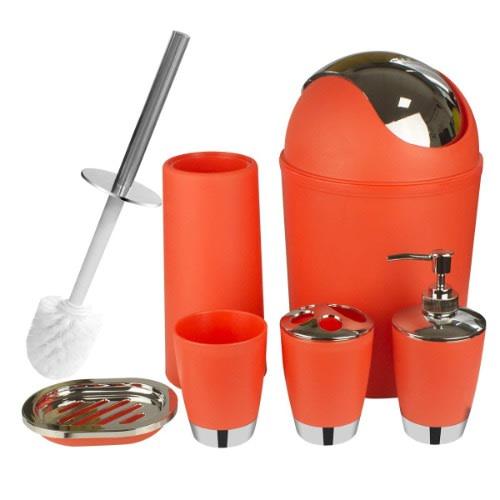 090b8b6a7a0e Bathroom Accessories Set - Orange