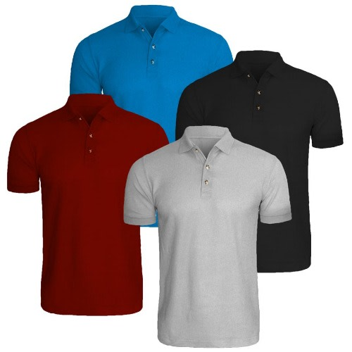 c74ba04e Plain Polo Shirt - 4 Piece Bundle | Konga Online Shopping
