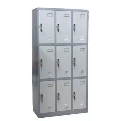 9 Doors Workers Metal Box Storage Lockers