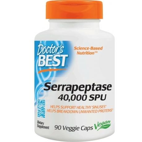 Serrapeptase 40,000 Spu, 90 Veggie Caps