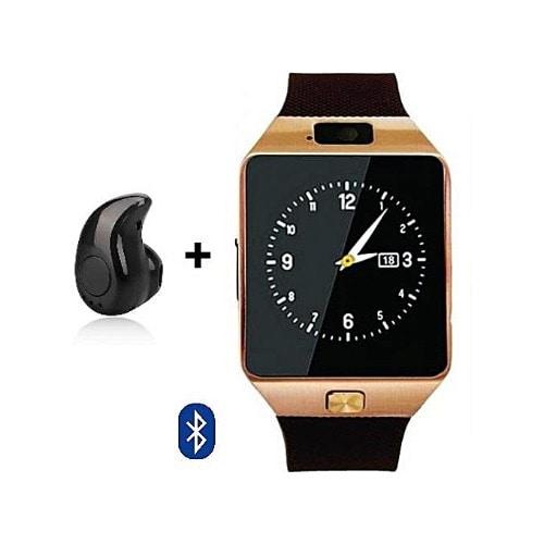 Smart Watch With Mini Bluetooth Earpiece Camera Sim/tf Card