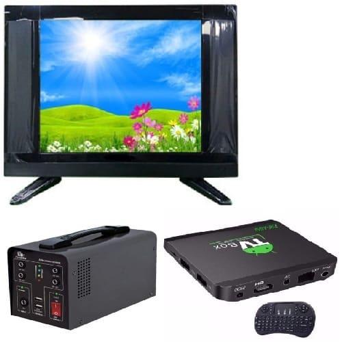"22"" LED AC DC TV + Solar Inverter + Android Smart Tv Box"