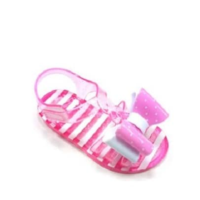 9847f1d4ae6b Wonder Nation Toddler Girls  Polka Double Bow Jelly Sandal- Pink ...