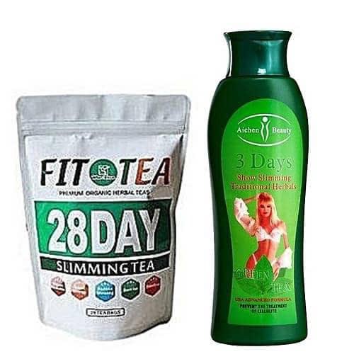 Fit Tea 28 Days Slimming Tea Plus Slimming Cream With Green Tea Extract