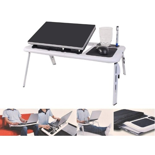 23e471a1d9e6 Foldable Laptop Tray Desk With Cooling Fan