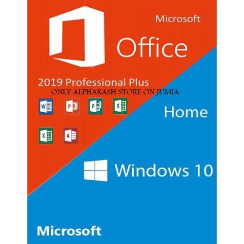 Windows 10 Home Oem + Office 2019 Professional Plus Cd Keys Pack