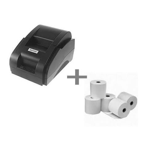 Receipt Thermal Printer 58mm + 5 Paper Rolls