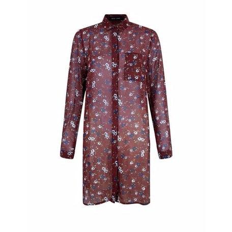 /R/e/Red-Floral-Chiffon-Longline-Shirt-----Multi-6681135_1.jpg