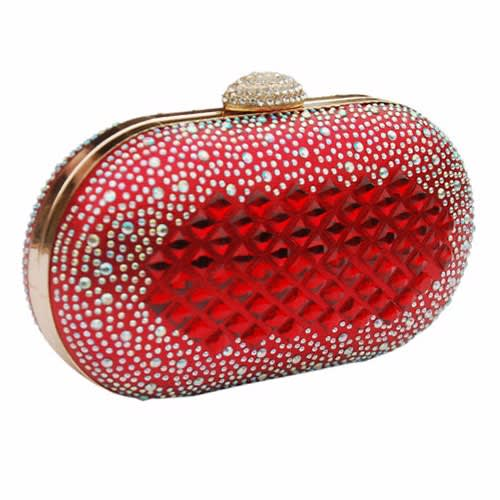 410005b02d Red Stone Embellished Clutch Purse | Konga Online Shopping