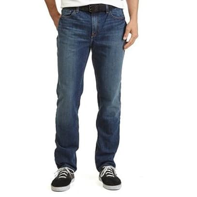 Regular Straight Cut Jeans For Men - Blue