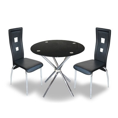 Round Glass Dining Table 4 Chairs, Round Glass Dining Table Set 4 Chairs