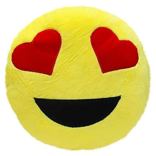 Round Love Heart Emoji Plush Play Pillow 4