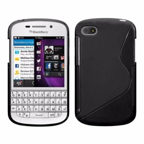separation shoes 965d4 e990a S-Line Rubber Gel Phone Case for Blackberry Q10 - Black