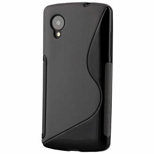 online retailer ae22f 157a2 S-Line Rubber Gel Phone Case for LG Nexus 5 - Black