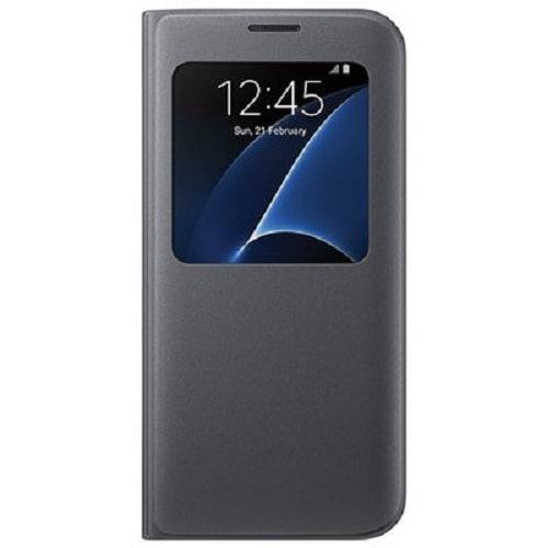 super popular 9614f 49851 S-View Flip Cover Smart Case For Samsung Galaxy S7 Edge - Black