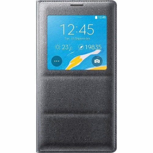 buy online 5f3fc 00205 S View Smart Flip Case for Samsung Galaxy Note 4 - Grey