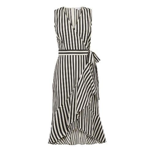 46251dea91d3 Warehouse Wrap Dress-black And White   Konga Online Shopping