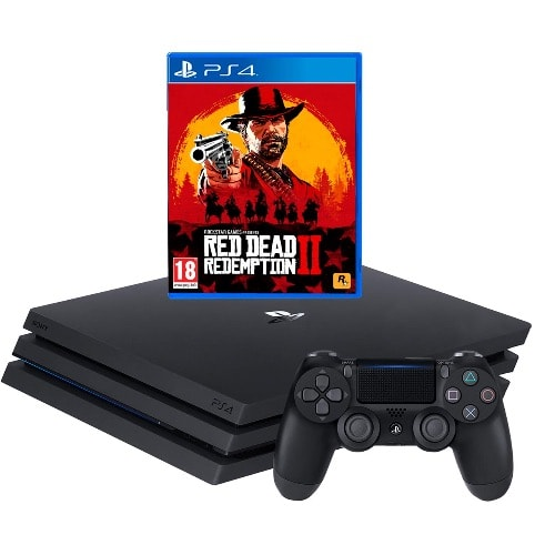 PlayStation 4 Pro 1TB - Red Dead Redemption 2 Bundle