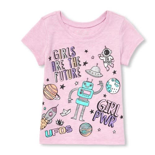 3516531e3 The Childrens Place Toddler Girls Short Sleeve 'girls Are The Future ...