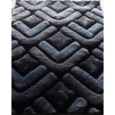3D Shaggy Rug - 4x6ft - Grey Design