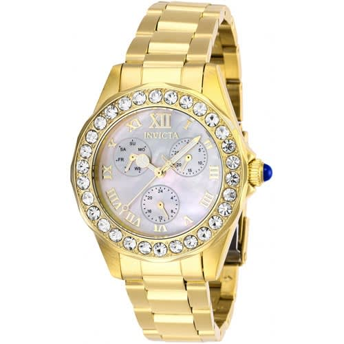 28465 Women's Angel Quartz 3 Hand White Dial Watch
