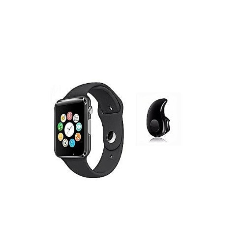 Smart Watch With Sim, Sd Card Space For Android & Ios + Free S530 Bluetooth Earpiece