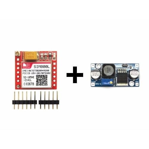 SIM800L GSM Module + Power Supply - LM2596