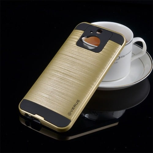 best loved d0d8d 7adfc HTC One M9 Plus Case 2 In 1 Fashion High Quality Back Cover Case - Gold