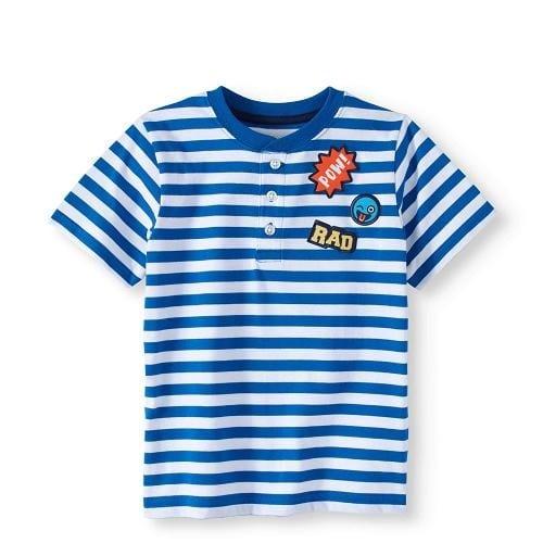 ebc8a9ef9 Garanimals 365 Kids Chest Striped Henley Boys T-shirt Top -bw ...