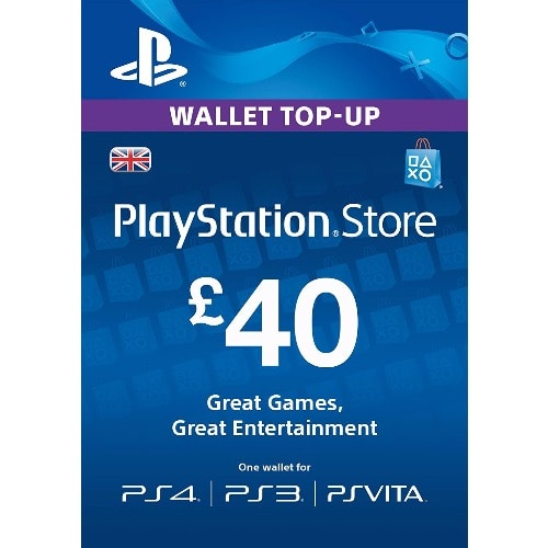 Sony Playstation Psn 40 Gbp Store Gift Card For Ps3 Ps4 Psvita Konga Online Shopping