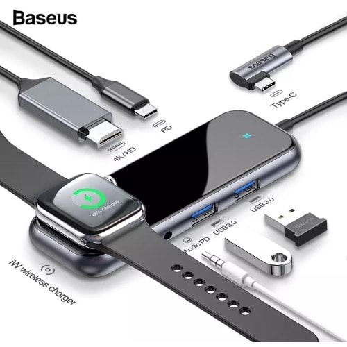 6 In 1 Type C Usb Hub For Type C Devices
