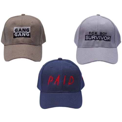 c4b39428949ce Edwards Couture Men s Baseball Cap - Set of 3
