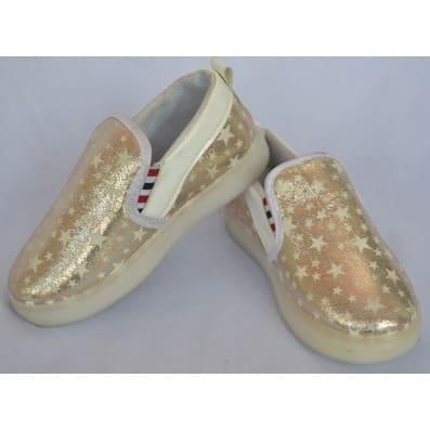 SX Girls Fancy Sneakers - Gold | Konga
