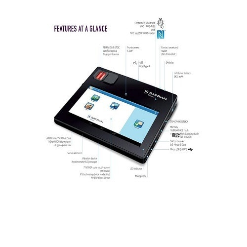 Morpho Tablet Multifunction Biometric Tablet With 5400mAh & Sim Slot
