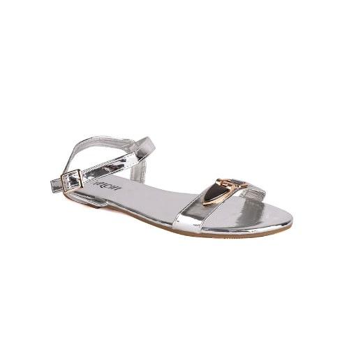 aa0904f6f34e2 Salchi Ladies Trendy Flat Sandals - Silver