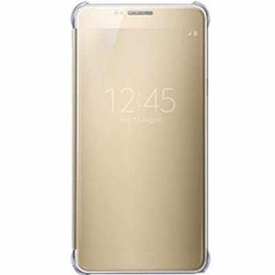 buy popular a55e2 a8118 Samsung Galaxy S6 Edge + Plus Clear View Cover- Flip Gold