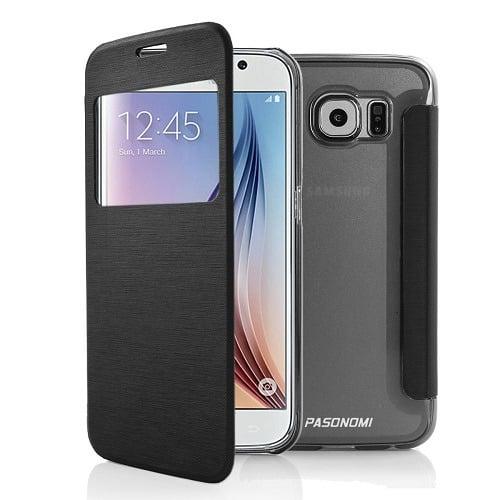 promo code adc18 31ffe Samsung Galaxy S6 High Quality Protective Flip Case - Black