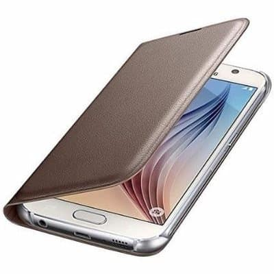 new styles 9226b 9e80c Samsung Leather Flip Cover Samsung Galaxy A3 - 2017 - Gold