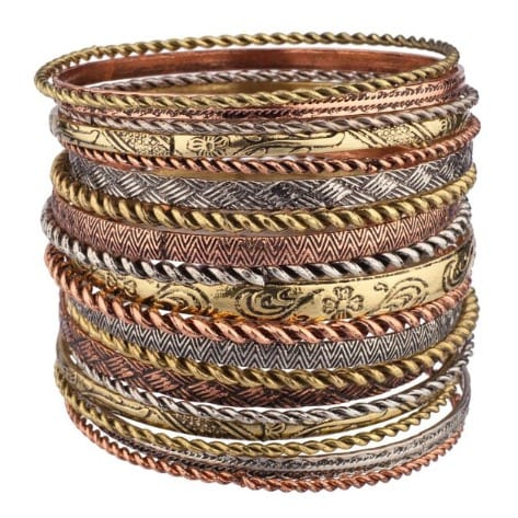 f639a2351 Set of 19 Luxe Accessories Mixed Color Aztec Bangle