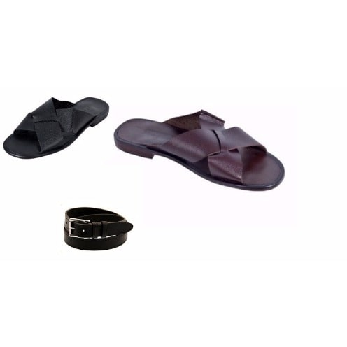 /S/e/Set-of-2-Men-s-Leather-Locked-Cross-Pattern-Slippers---Brown-Black-Free-Belt-Shoe-Care-7953044.jpg