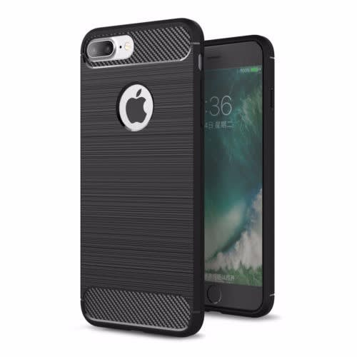 hot sale online 01fad 470ee Shockproof TPU Carbon Fiber Tough Phone Case for Apple iPhone 8