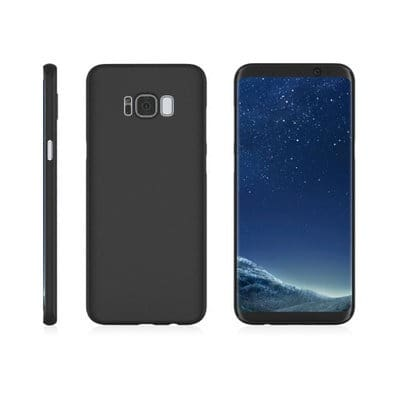 new product bad7e 5cb63 Silicone Back Case for Samsung Galaxy S8 & S8 Plus - Black