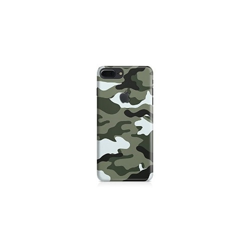 a6260fb5ad Silicone Leather Back Cover for iPhone 7+ - Army Green | Konga ...