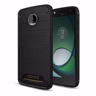 reputable site b160e 357d7 Silicone Protective Back Case For MOTO Z Playsoft - Black