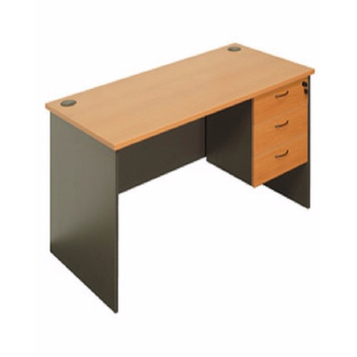 quality design 92378 f299b Simple Office Desk - Brown