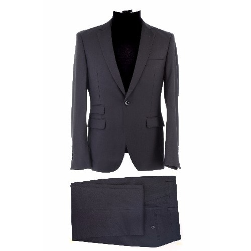 Single Button Suit - Dark Grey