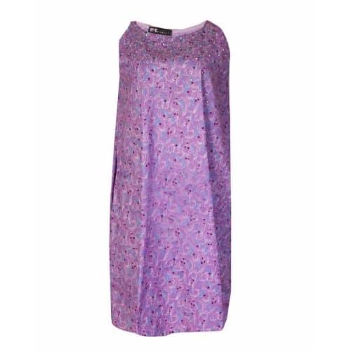 Sleeveless Free Flow Stoned Dress - Lilac  70584f8b3