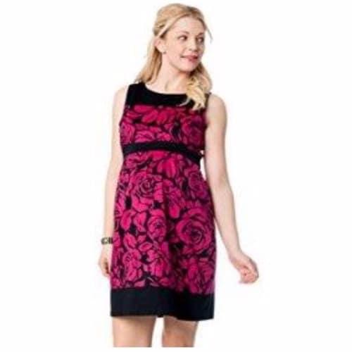 /S/l/Sleeveless-Pleated-Maternity-Dress---Black-Pink-5005302_2.jpg