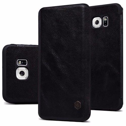 finest selection 06be4 e727e Smart Flip Case Nillkin Qin for Samsung Galaxy S6 Edge Plus - Black